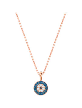 Luckily Pendant, Multi Coloured, Rose Gold Tone Plated by Swarovski