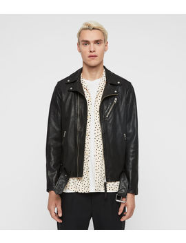 Rigg Leather Biker Jacket by Allsaints