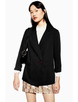 schwarzer-blazer by topshop