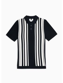 Navy Button Short Sleeve Polo by Topman