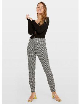 Petite Black Gingham Trousers by Miss Selfridge