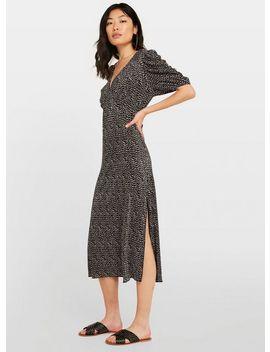 Black Ditsy Print Midi Dress by Miss Selfridge