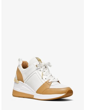 Georgie Leather Trainer by Michael Michael Kors