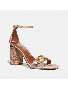 Maya Sandal With Floral Bundle Print by Coach