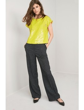 Yellow Sequin Top by Next