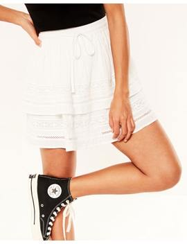 Tiered Trim Skirt by Glassons