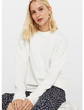 White Crew Neck Sweatshirt by Miss Selfridge