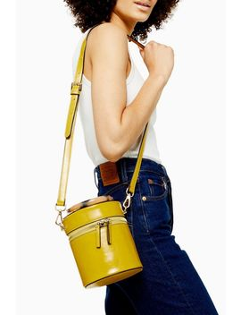 Simi Yellow Crocodile Barrel Bag by Topshop