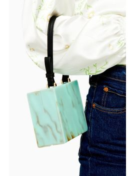 Grace Turquoise Acrylic Grab Bag by Topshop