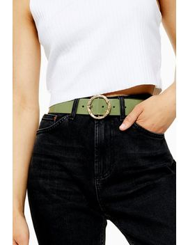 Sage Green Bamboo Belt by Topshop