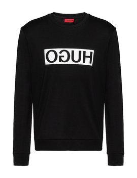 Regular Fit Sweatshirt Aus Baumwolle Mit Spiegelverkehrtem Logo Print by Boss