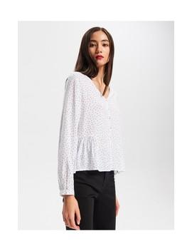 Блузка с оборкой by Reserved