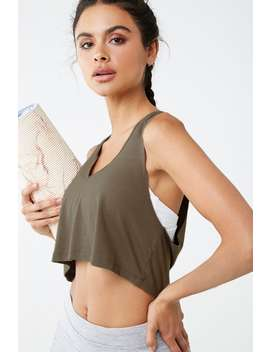 Active Sleeveless V Neck Crop Top by Forever 21
