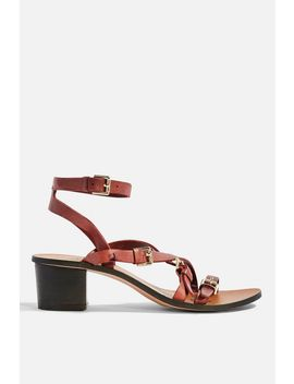 Virgo Burgundy Buckle Sandals by Topshop