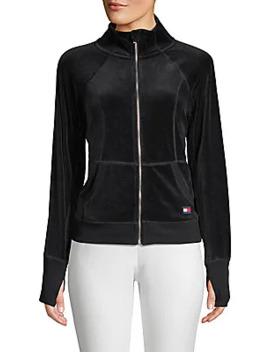 Velvet Raglan Sleeve Jacket by Tommy Hilfiger Sport