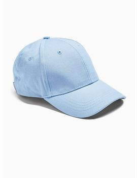 Blue Textured Curve Peak Cap by Topman