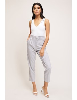 Cindy Belted Cigarette Pant by Dynamite
