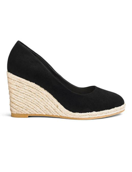 Iris Espadrille Wedge Court Extra Wide Eee Fit by Simply Be