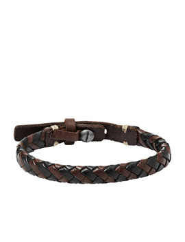 Braided Bracelet   Brown And Black by Fossil
