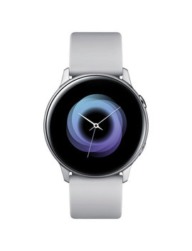 Samsung Galaxy Watch Active 40mm Smartwatch With Heart Rate Monitor   Silver by Best Buy