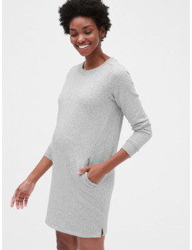 Maternity Three Quarter Sleeve Sweatshirt Dress In French Terry by Gap