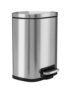 Premium I Touchless Soft Step 1.3 Gal. Trash Can   Stainless Steel by Halo