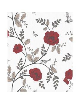 Wilko Rosanna Floral Red Wallpaper Wilko Rosanna Floral Red Wallpaper by Wilko