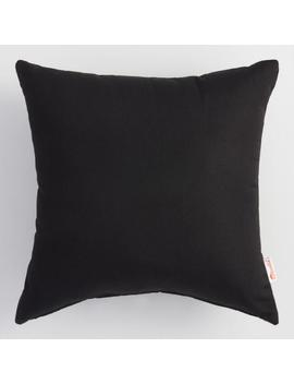 Sunbrella Black Canvas Outdoor Throw Pillow by World Market