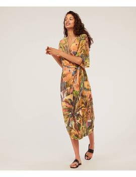Langes Kleid Mit Bindegürtel by Oysho