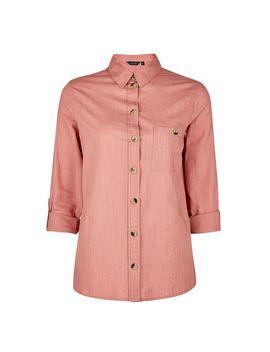 Rose Slub Shirt by Dorothy Perkins