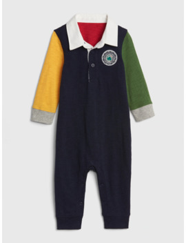 Baby Colorblock Polo One Piece by Gap