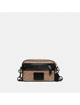 Academy Crossbody In Signature Canvas by Coach