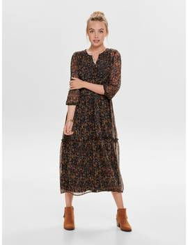 Long Printed Dress by Only