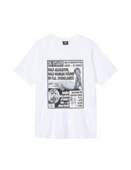 Stüssy Tabloids Tee (White) by Dover Street Market