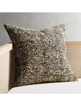 "20"" Cozie Black And Natural Pillow by Crate&Barrel"