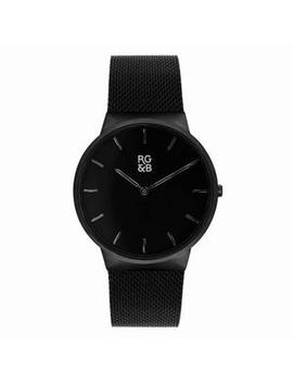Watches V1   Minimal All Black by Rose Gold & Black