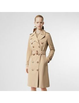 Leather D Ring Detail Cotton Gabardine Trench Coat by Burberry