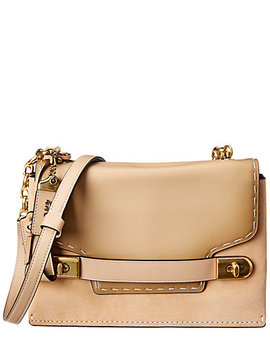 Coach Swagger Chain Leather & Suede Crossbody by Coach