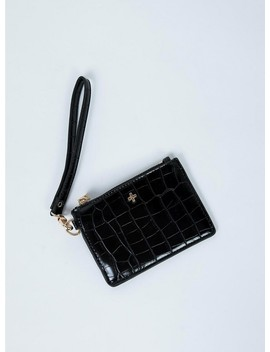 Peta & Jain Kenzie Purse Black Croc by Peta And Jain