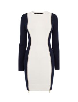 Contrast Bodycon Dress by Ke095