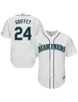Ken Griffey Jr. Seattle Mariners Majestic Cool Base Player Jersey   White by Majestic