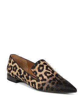 Sarto By Franco Sarto Topaz 2 Leopard Print Calf Hair Loafers by Franco Sarto
