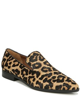 Lany2 Leopard Print Calf Hair Block Heel Loafers by Franco Sarto