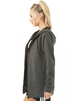 Active Longline Zip Up Hoodie by Forever 21