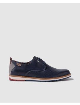 Zapatos De Cordones De Hombre Pikolinos De Piel En Color Azul by Pikolinos