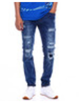 Skinny Fit Worn Out Jean by Buyers Picks