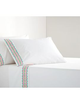 Lilly Pulitzer It's Impawsible Geo Border Print Percale Sheet Set by Pottery Barn