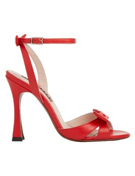 Red Leather Studio Heel by Alexa Chung