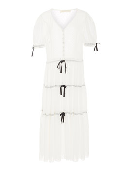 Serena Tiered Sheer Maxi Dress by Love Shack Fancy