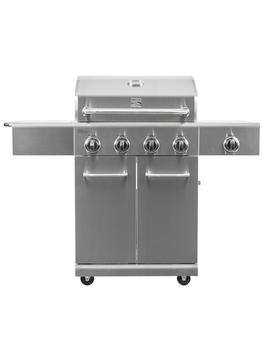4 Burner Propane Gas Grill In Stainless Steel With Side Burner by Kenmore